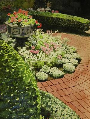 Hidden Garden In Quebec Art Print by Walt Maes