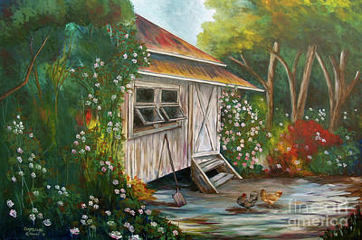 Painting - Hidden Garden by Larry Geyrozaga