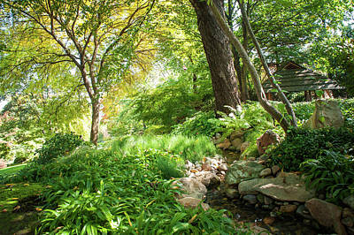 Photograph - Hidden Hut. Japanese Garden by Jenny Rainbow