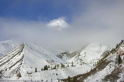 Mt Hood Photograph - Hidden In Fog by Mike  Dawson