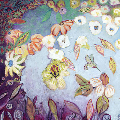 Lilies Paintings - Hidden Lagoon Part I by Jennifer Lommers