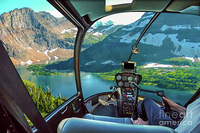 Photograph - Hidden Lake Glacier Helicopter by Benny Marty