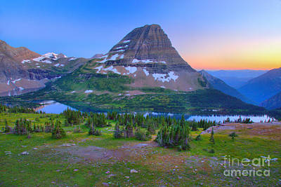 Photograph - Hidden Lake Hazy Summer 2017 Sunset by Adam Jewell