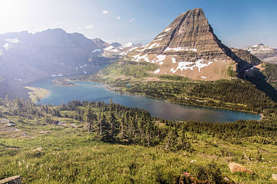 Photograph - Hidden Lake In Glacier National Park Montana  by John McGraw