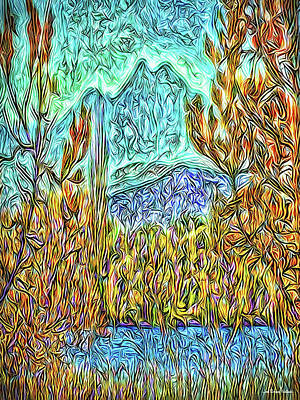 Digital Art - Hidden Lake by Joel Bruce Wallach