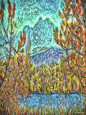 Digital Art - Hidden Lake by Joel Bruce Wallach