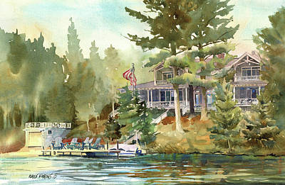 Hidden Lake Art Print by Kris Parins
