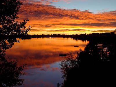 Hidden Lake Sunrise Art Print by Thomas Lewis