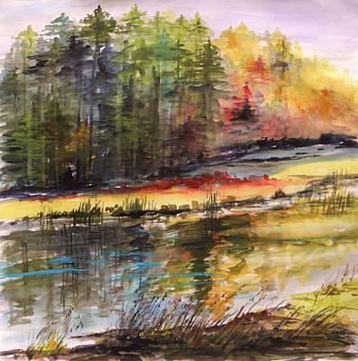 M.shadows Drawing - Hidden Meadow by John Williams