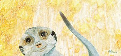 Meerkat Painting - Hidden Meerkat by Angeles M Pomata