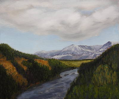 Painting - Hidden Mountains by Alan Mager