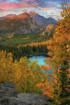 Photograph - Hidden Overlook - Bear Lake Colorado By Thomas Schoeller by Expressive Landscapes Nature Photography