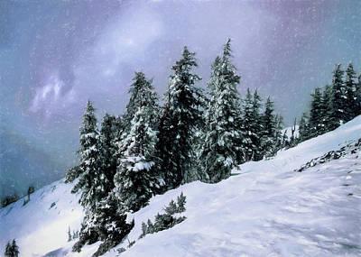 Hidden Peak Art Print by Jim Hill