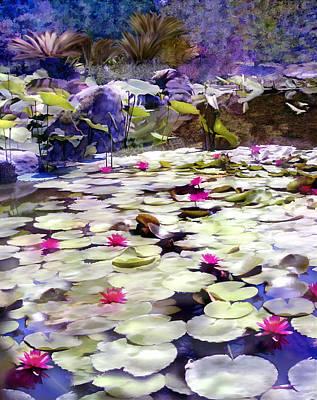 Photograph - Hidden Pond Lotusland by Kurt Van Wagner