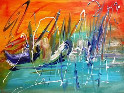 Abstractz Painting - Hidden Rabbit by Piety Dsilva
