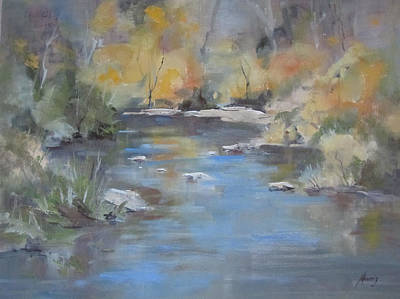 Hidden River Art Print by Elaine Monnig