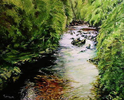 Painting - Hidden Stream by Steve James