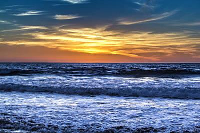 Photograph - Setting Sun Hidden Behind Clouds by Randy Bayne