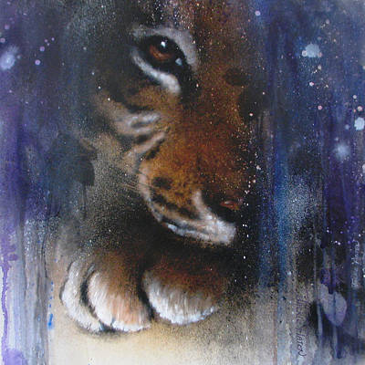 Painting - Hidden Tiger by Jackie Flaten