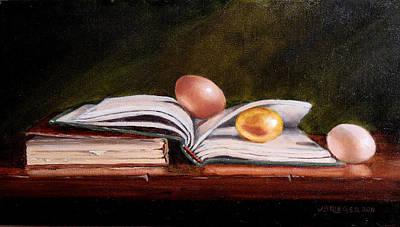 Poer Painting - Hidden Treasure by Jan Brieger-Scranton