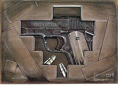 Colt 45 Drawing - Hidden Treasure by Ricardo Reis