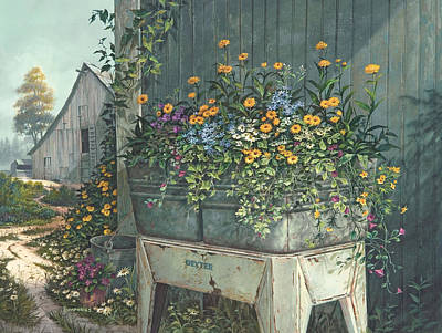 Wild Flower Painting - Hidden Treasures by Michael Humphries
