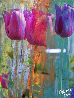 Hidden Tulips Art Print by  Cid