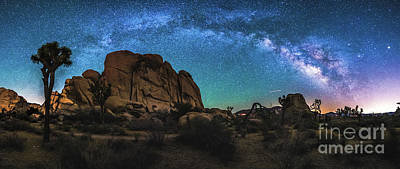 Photograph - Hidden Valley Milky Way Panorama by Robert Loe