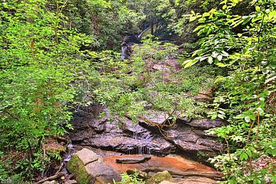 Photograph - Hidden Waterfall At Stumphouse Tunnel Oconee County South Carolina  by Lisa Wooten