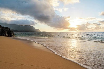 Sunset Photograph - Hide Away Beach by Hudson Marsh