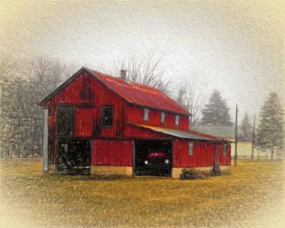 Barnyard Digital Art - Hide Away by Leslie Montgomery