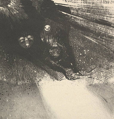 Relief - Hideous Larvae by Odilon Redon