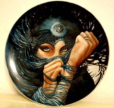 Glass Art - Hiding Behind A Veil by Patricia Rachidi