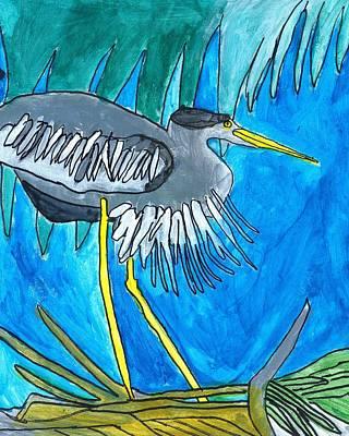 Painting - Hiding Bird by Brandon Drucker