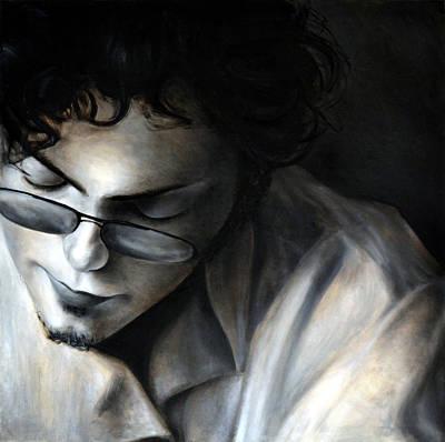 Hiding Eyes, 2010, 100-100cm, Oil On Canvas Print by Oana Unciuleanu