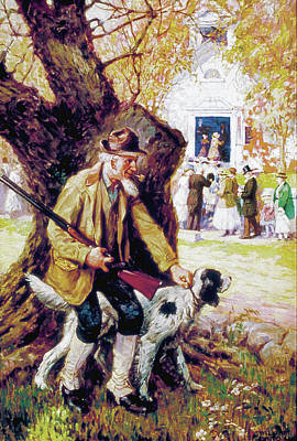 Painting - Hiding From Church by William Eaton