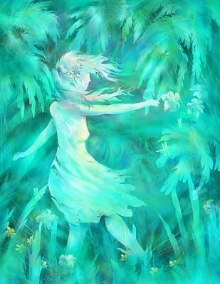 Digital Art - Hiding In Her Dreams by Rachel Christine Nowicki