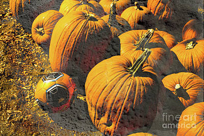 Hiding In Plain Pumpkin Art Print by Deborah Nakano