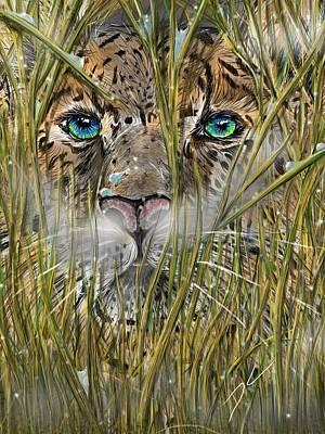 Digital Art - Hiding In The Grass by Darren Cannell