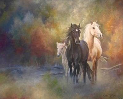 Painting - Hiding In The Mist by Karen Kennedy Chatham