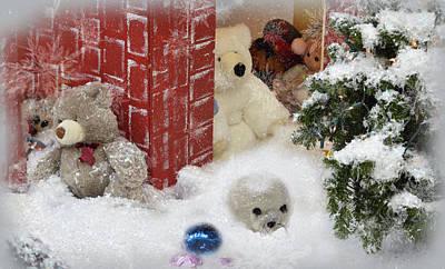 Photograph - Hiding In The Snow by Leticia Latocki