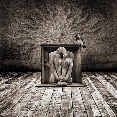 Conceptual Digital Art - Hiding by Jacky Gerritsen