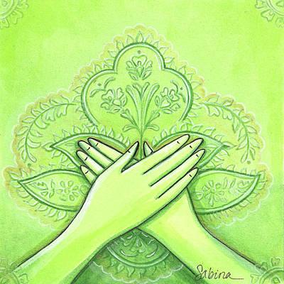 Hidraya Mudra Art Print by Sabina Espinet
