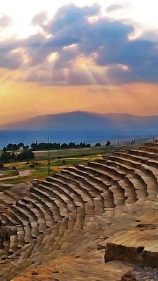 Photograph - Hierapolis Theater At Sunset by Lisa Dunn