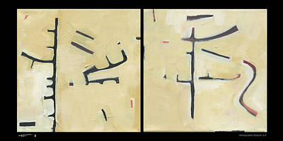 Painting - Hierographis Diptych 0103 by Tim Nyberg