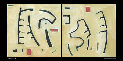 Painting - Hierographis Diptych 0607 by Tim Nyberg
