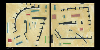 Painting - Hierographis Diptych 10/12 by Tim Nyberg
