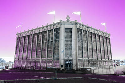 Photograph - Higgins Armory In Infrared by Brian Hale