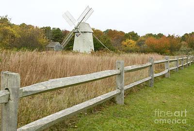 Higgins Farm Windmill Brewster Cape Cod Art Print