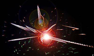 Spark Painting - Higgs Boson Work B by David Lee Thompson
